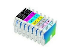 Non-Oem Ink Cartridges for Epson 2200 2100 Stylus Photo Printer 8 Pack Combo