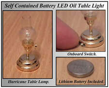 1/12, LED Battery No wiring Dolls House Brass Hurricane Light Table oil Lamp LGW