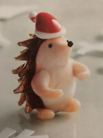 NEW Pier 1 Blown Glass Hedgehog Christmas Ornament Figurine Retired NIB