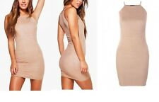 NEW LADIES WOMEN Petite Fran Suedette Bodycon Dress