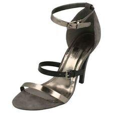 Anne Michelle L3R382 Ladies Black/Pewter Court Shoes (R11B)