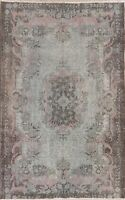 Antique Floral Aubusson Oriental Area Rug Wool Hand-Knotted 6x10 Muted Carpet
