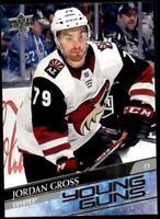 2020-21 UD Series 2 Base Young Guns #466 Jordan Gross RC - Arizona Coyotes