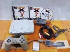 PS1 Playstation 1 Slim Weiß SCPH102 +Zubehörpaket: Contr. +Moorhuhn X  !! MIT !!