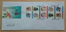 1996 Malaysia Butterflies Booklet Stamps on Private FDC (Melaka Cachet) Lot A