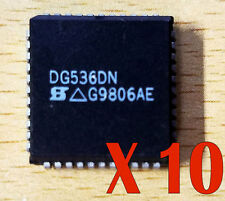 Lot of 10 DG536DN Analog Multiplexer Single 16:1 44-Pin PLCC Wideband Video