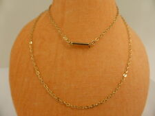 9ct Solid Yellow Gold Fine Flat Cable Link Chain Necklace 45.5cm