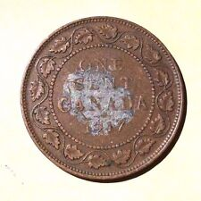 Canada 1917 One Cent Large Cent U Grade