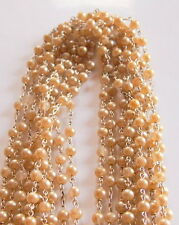 10 Vintage Sterling Silver Links Long Faux Beads Rosary Necklace 372grams PiusX