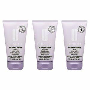 3 X Clinique Foaming Sonic Facial Soap 5oz, 150ml