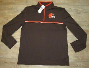Cleveland Browns NFL Team Apparel 1/4 Zip Pullover Tech Shirt Jacket Men's 2XL
