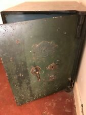 J CARTWRIGHT MAKERS Victorian SAFE  Very old original with key and draws