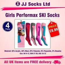 4 pairs girls performax ski socks