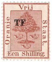 (I.B) Orange Free State Telegraphs : 1/- Red-Brown (setting 8)
