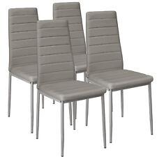 Set di 4 sedia per sala da pranzo tavolo cucina eleganti moderne robusto grigio