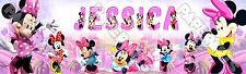 "Minnie Mouse Poster Banner 30"" x 8.5"" Personalized Custom Name Printing"