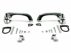 1964-1966 Ford Mustang Falcon Comet Outside Door Handles SHOW QUALITY - CHROME