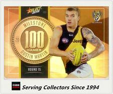 2015 AFL Champions Milestone Holofoil Card MG69 Dustin Martin (Richmond)