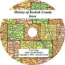 1880 History & Genealogy of KEOKUK COUNTY IOWA Sigourney Keota  IA Families