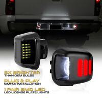 2PCS Car LED License Plate Tag Light Red Neon Tube For Navara D40 2005~2016 Lamp