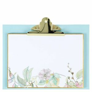 CLIPBOARD A5 Landscape with Floral pad and magnetic rear - (4892)