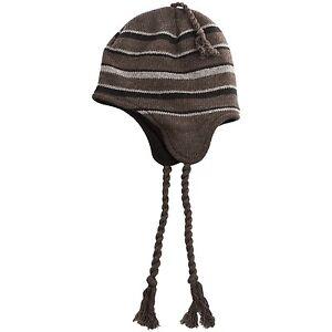 Chaos Hatcher Peruvian Braided Tassel Wool Hat - Fleece Lined Beanie Ski Cap NEW
