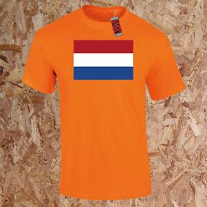 Holland Welt Flagge T-Shirt Geography Kinder Erwachsene Oranje Fußball Holland