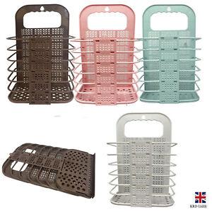 Small Foldable Laundry Hamper Plastic Clothes Storage Basket Bin Organizer Home