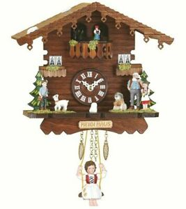 Black Forest Wall Clock with Turning Dancers Heidi House Trenkle Uhren