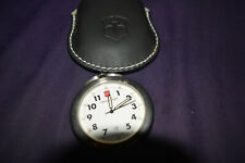 Victorinox SWISS ARMY Stainless Steel Quartz Pocket Watch With Pouch!