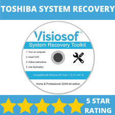 TOSHIBA System Recovery Boot Repair Restore CD DVD Disc Windows 10 8 7 Vista XP