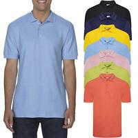 Mens Polo Shirt Short Sleeve River Road Plain Pique T Shirt Summer Top New Basic