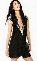 ELLIATT Anthropologie LBD Black And Gold Dress Size Small