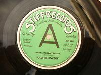 RACHEL SWEET BABY LET'S PLAY HOUSE stiff 55 A label design.... 45rpm / rock