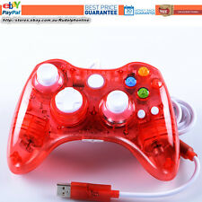 New Red LED USB Wired Controller For Xbox 360 Slim PC Games Windows 10