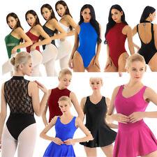 Women's Ballet Yoga Dance Leotard Bodysuit Tracksuit Sports Gymnastics Dancewear