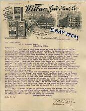 1902 Letterhead WILBUR SEED MEAL COMPANY Milwaukee Wisconsin VETERINARY MEDICINE
