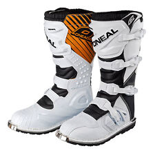 Oneal Rider Adult Mens 2016 MX Motocross off Road BOOTS White UK 8