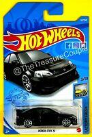 Hot Wheels 2021 - HONDA CIVIC Si - NEW Black - H CASE SINGLES - S93