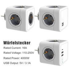 USB Steckdose Steckdosenwürfel, Steckdosenadapter Steckdosenleiste EU-Stecker