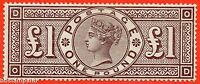 "SG. 185. K15. "" OD "". £1.00 brown - lilac. A superb VERY lightly mounted."