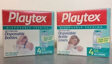 (2) 50pk Playtex Vintage Baby Bottle Drop-Ins FLAT Disposable Liners 4oz