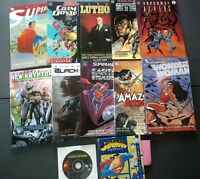 Superman Lot of 10 Graphic Novels + 2 Discs, All-Star Superman, Steel