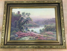 Gaston Anglade (1854-1919) Landscape Oil Painting Signed Panel