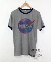 Nasa T-Shirt Galaxy Logo Space Astronaut Apollo Ringer Shirts Mens Gift Tees