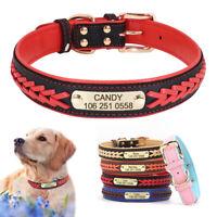 Personnalisé collier de chien en cuir,rembourrage Nom et numéro de téléphone