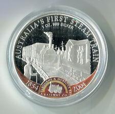 1 Dollar Cook Inseln 2004 Australia's First Steam Train Silber 999 1 Unze M_525