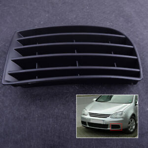 Left Bumper Lower Fog Light Grille Cover fit for VW Golf 5 MK5 2004 to 2008