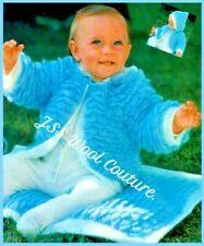 CROCHET PATTERN Baby hooded jacket coat Blanket cot pram cover pixie hood (576)