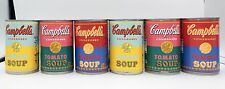 ANDY WARHOL limited edition Target Campbell's Tomato Soup Can 2012 lot of 6 cans